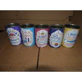 5 Latas Vazias Leite Moça Condensado - Coleção Candy Colors