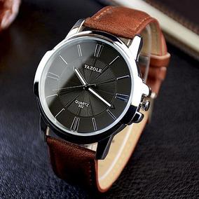 Relógio Masculino Caixa Preta Couro - Relógios De Pulso no Mercado ... 64e295d179
