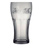 Kit Com 8 Copos Contour Coca-cola 473ml - Cor Cinza Fumê
