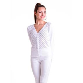 Sweater Escote V Calado Dama - Mauro Sergio -art. 659 e58850154957