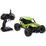 Carro A Control Remoto Turbo Verde Rally Buggy Rc Coche 2.4