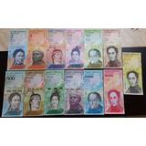 Billete Venezuela Set 13 Piezas De 1 A 100 000 Bolivares