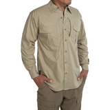 Camisa Browning Black Label Tactical Cotton Beige Talla S
