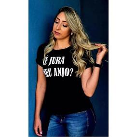 Tshirt Blogueira Ce Jura Anjo Blusa Camiseta Feminina Moda ae5f41aa4c75b