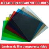 Acetato Laminas De 50x70cm Cristal Transparentes Colores