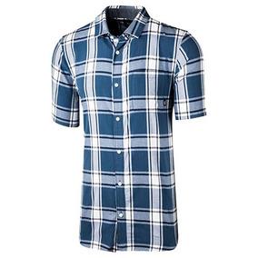 Camisa Cuadros Hombre Vans Vn-0a3h4fp8x Gris Manga Corta T3