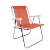 Cadeira De Praia Alta Alumínio Sannet Coral Mor