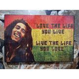 Bob Marley Cuadro Cartel 46cm X 31 Cm