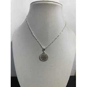 Medalla San Benito Y Cadena Cartier Plata Ley 925 Taxco Ad23