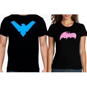 Playeras Parejas, Nightwing, Batgirl, Dc, Superheroes, Logo