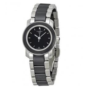 3aac3a20824 Relógio Tissot Feminino T-trend Preto cerâmico Aço cinza. R  1.999