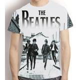 Camisa Bandas Rock Camiseta Beatles - Estampa Total