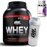 100% Whey Protein 2kg + Multishaker - Optimum + Bcaa Grátis