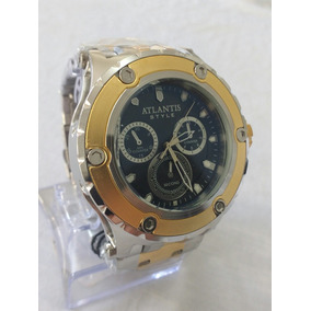 Relógio Dourado Masculino Atlantis J3358 Style Original