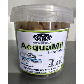 Raçao Aquamil 22% Furadinha Bolão Kit Com 3 Potes 90gr