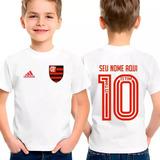 Camiseta Time Flamengo Personalizada Com Nome E Numero
