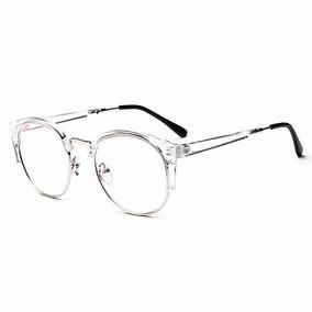Oculos Redondo Sem Grau Preto - Óculos Branco no Mercado Livre Brasil 06a4e4a5ed