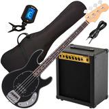 Bajo Electrico Activo T/ Musicman + Ampli 35w Funda Afinador