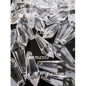 100 Ponteiras Pirulito Cristal Acrílico 30 Mm Lustres Bijoux