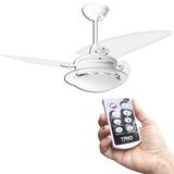 Ventilador Teto Residence Branco, Pás Acrílicas C/ Controle