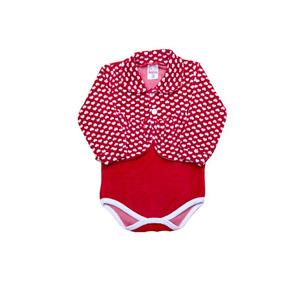 Body Bebe Menina Plush Detalhe Casaco Coração Ref 6516 8baaf16464c