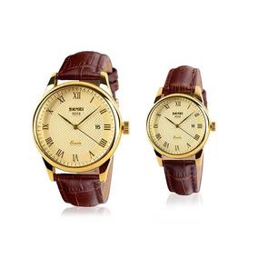 Relógio Masculino Skmei Modelo 9058 Dourado