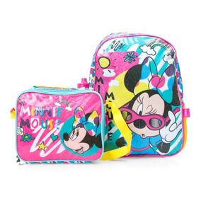 Set De Mochila Y Lonchera Rosa Minnie Mouse