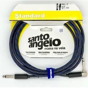 Cabo P10 90º Tecido Santo Angelo -- 3 Metros - Escolha A Cor