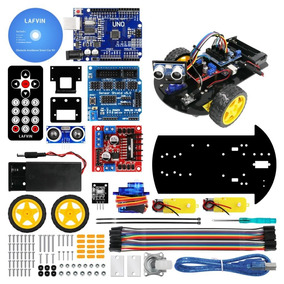 Kit Arduino Completo Com Chassi Roda 2wd Com Ultrasonic