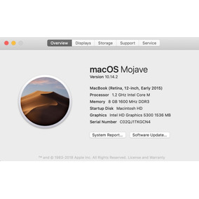 Macbook 12 Retina 500 Gigas