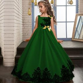 c3644edd5 Vestidos De Presentacion Ampones Niñas - Vestidos Verde en Distrito ...