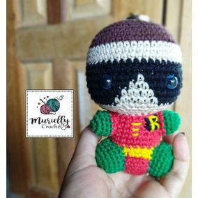 Chaveiro Robin Em Croche