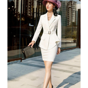 374b8198c0ecc Trajes Mujer Moda Ejecutiva Blazer + Falda Silueta Sensual