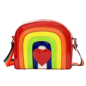 Bolsa Moda Feminina Multi Cores Delicada Arco-íris Unicórnio