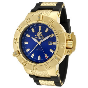 b9307386b77 Relógio Invicta Subaqua Noma Iii 1150 Azul Dourado Masculino