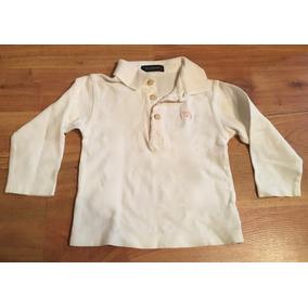 Padrisima Playera Burberry Baby Blanca Polo Original!!