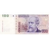 Argentina Billete 100 Pesos Con Error De Corte Sin Circular