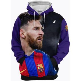 3514b9ace25e2 Blusa De Frio Moletom Messi Barcelona