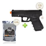 Pistola Airsoft Glock G15 Full Metal 6mm +2000 Bbs - Spring