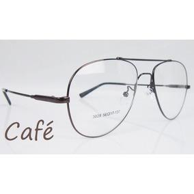 Armacao Oculos Feminino Aviador Branco - Óculos Marrom no Mercado ... fbe736fc1c