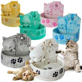 Bebedouro Para Gato Fonte De Água Resina 6 Opções De Cores