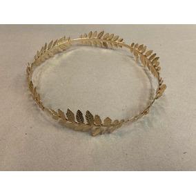 Coroa Deus Grego Com Folhas Cor Ouro