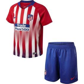 bd8b1396f6 Conjunto Infantil Atlético De Madrid Oficial - Frete Grátis