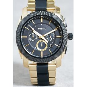 4e43cab0d4c6 Reloj Fossil Machine Fs5261 Hombre Dorado negro Cronografo