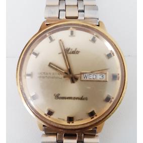 11ef2085b42 Relogio Mido Commander Antigo - Relógios no Mercado Livre Brasil