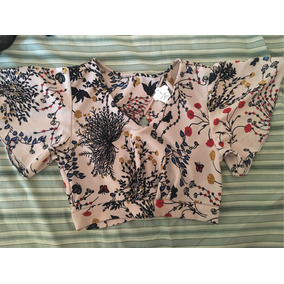 Blusa Cropped Estampada