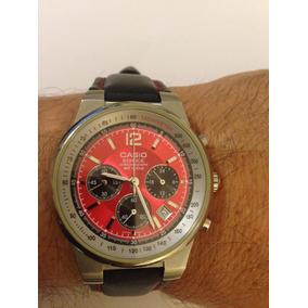 7444b2b3292 Relógio Casio Edifice Chronograph Wr 100m Vermelho-preto
