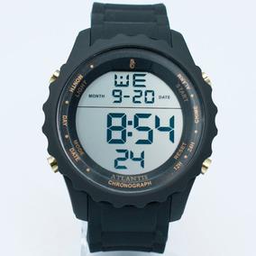 923b442397a Relogio Atlantis Masculino Preto E Dourado Esportivo - Relógios De ...