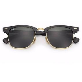 Ray Ban Clubmaster Aluminium Preto De Sol Oculos - Óculos De Sol no ... 00a150102a