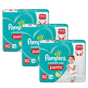 Kit Fralda Pampers Confort Sec Pants Tam. Xg C/90 Unidades